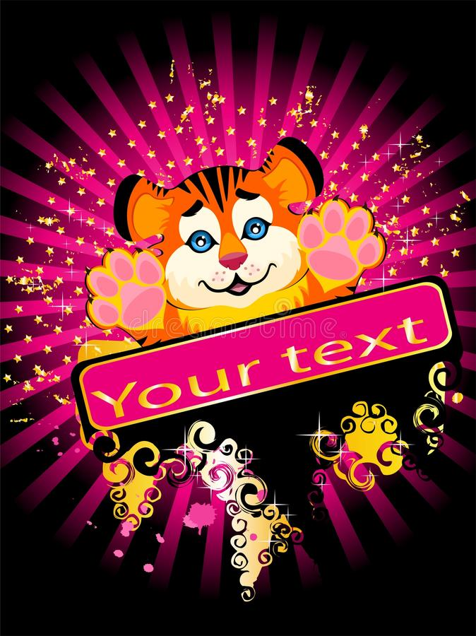 Download Sign 2010 Years Is A Beautiful Little Tiger Stock Vector - Image: 11448765