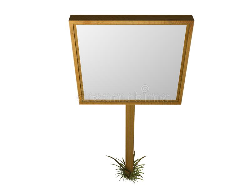 Download Sign stock illustration. Image of wood, board, blank - 21362962
