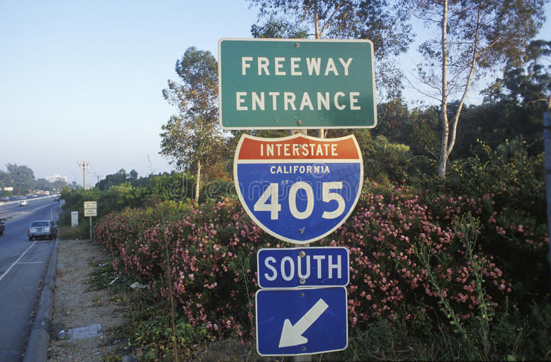 Download A Sign For The 405 San Diego Stock Image - Image: 26280011