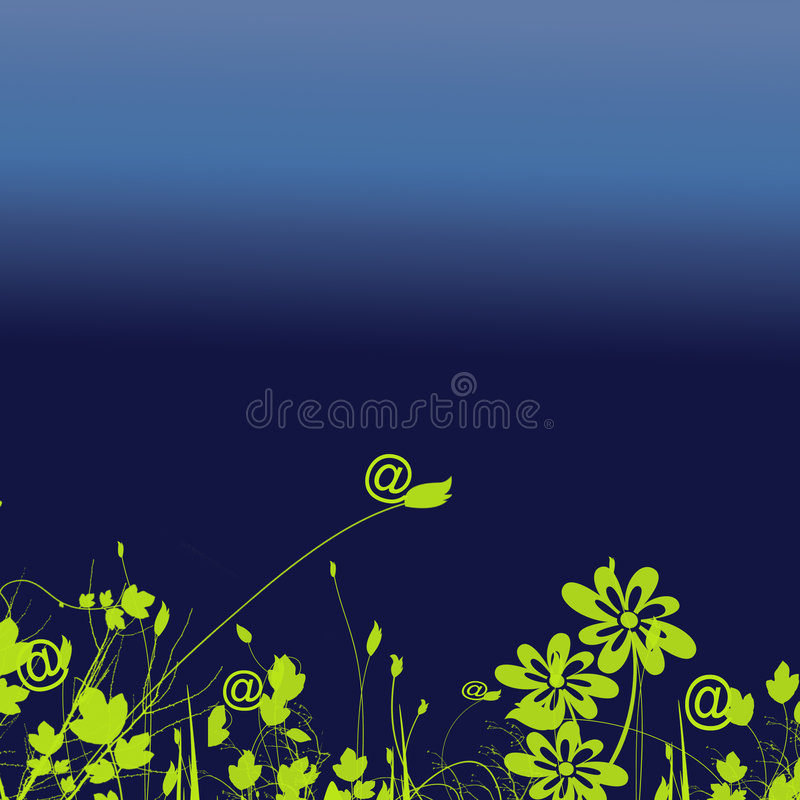 At Sign. On abstract background vector illustration