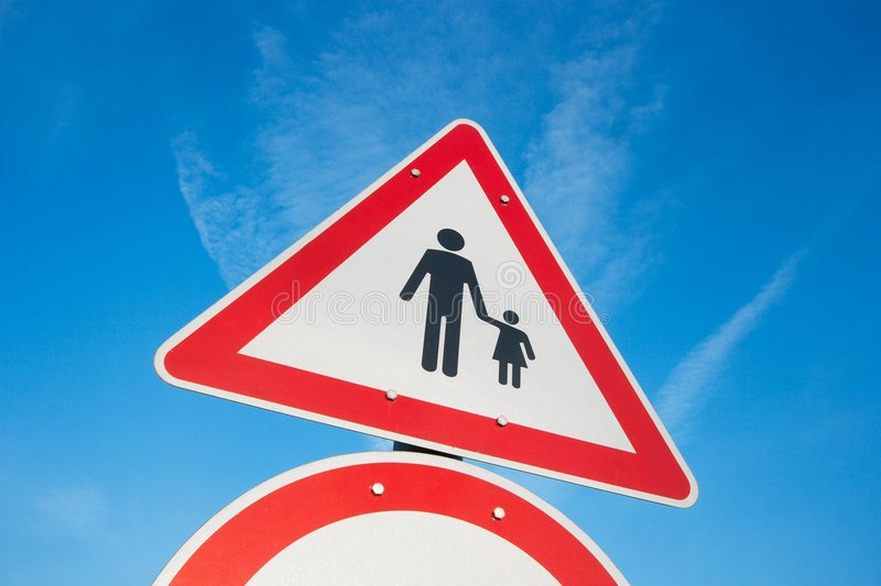 Download Sign stock photo. Image of clear, attention, blue, danger - 8464832