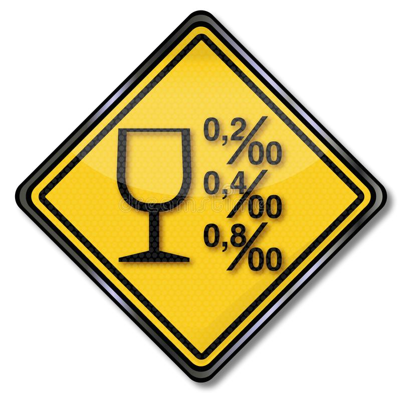 Alcohol limits and alcoholism. Sign alcohol limits and alcoholism vector illustration