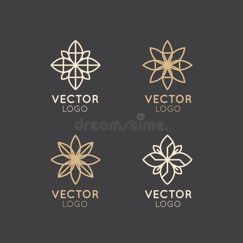 Sign of Alternative Medicine. IV Vitamin Therapy, Anti-Aging, Wellness, Ayurveda, Chinese Medicine. Holistic centre. Vector Icon Style Logo Sign of Alternative royalty free illustration