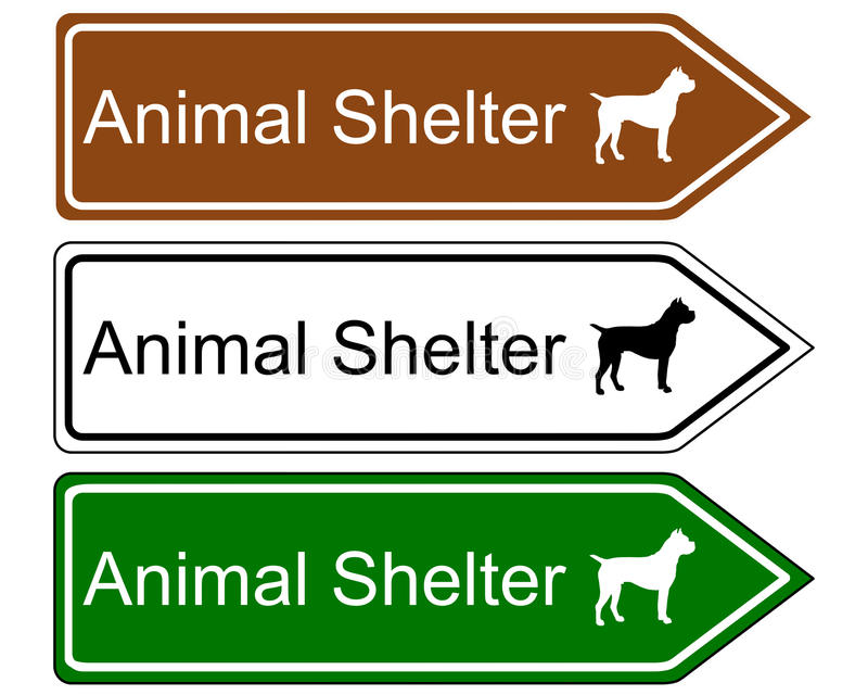 Sign animal shelter royalty free illustration