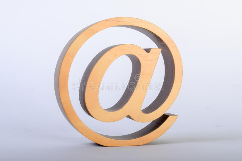 At sign as a sculpture royalty free stock photo
