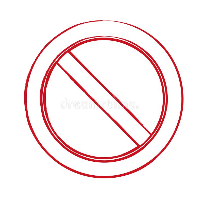 Sign ban, prohibition, No Sign, No symbol, Not Allowed isolated on white background. Vector vector illustration