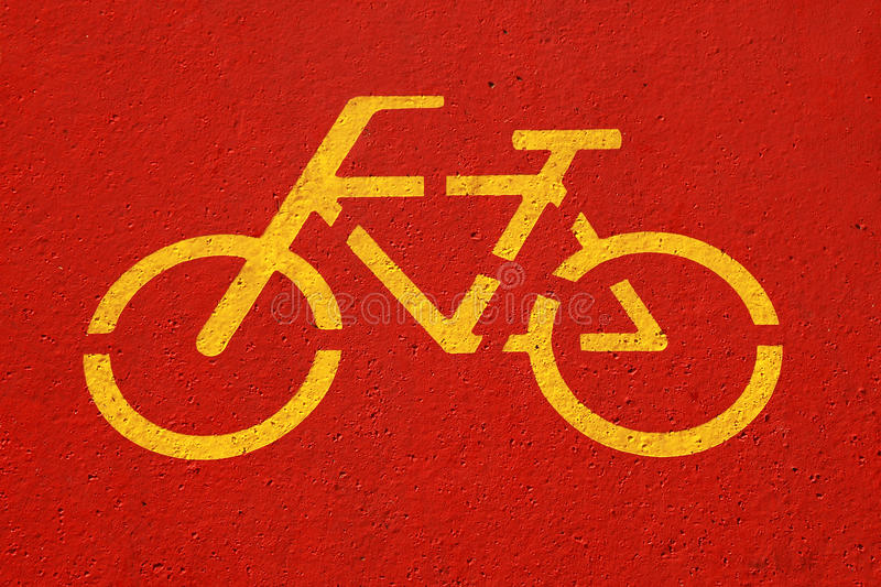 Download Sign of bicycle lane stock image. Image of paint, asphalt - 16540911