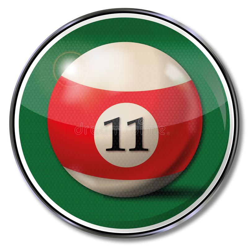 Sign billiard ball number 11. Sign with the billiard ball number 11 vector illustration