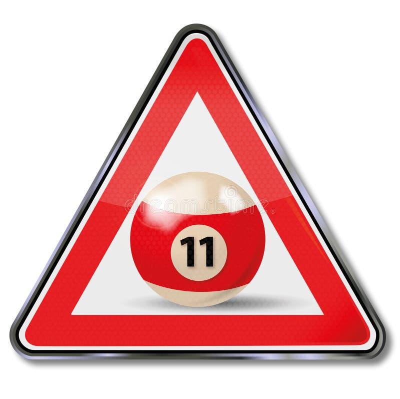 Sign billiard ball number 11 vector illustration