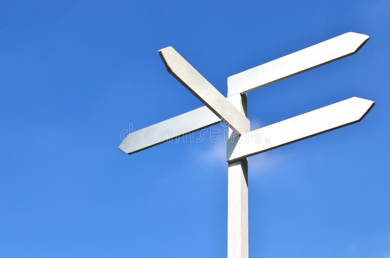 Sign and blue sky royalty free stock photography