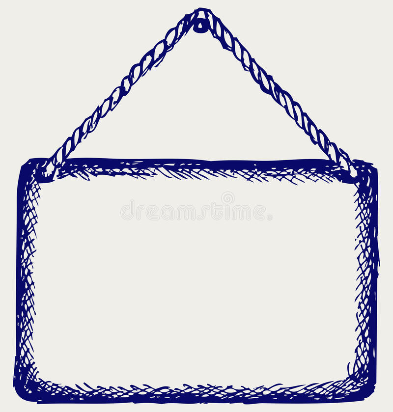 Download Sign Board With Rope Royalty Free Stock Photo - Image: 26595695