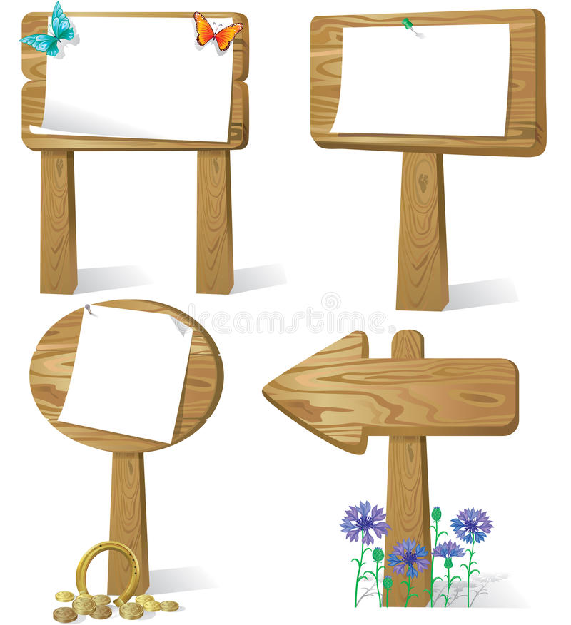 Sign Board Wood Royalty Free Stock Image