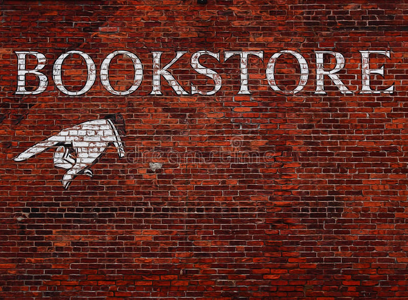 Sign for a bookstore stock image
