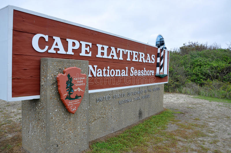 Sign of Cape Hatteras National Seashore royalty free stock photo