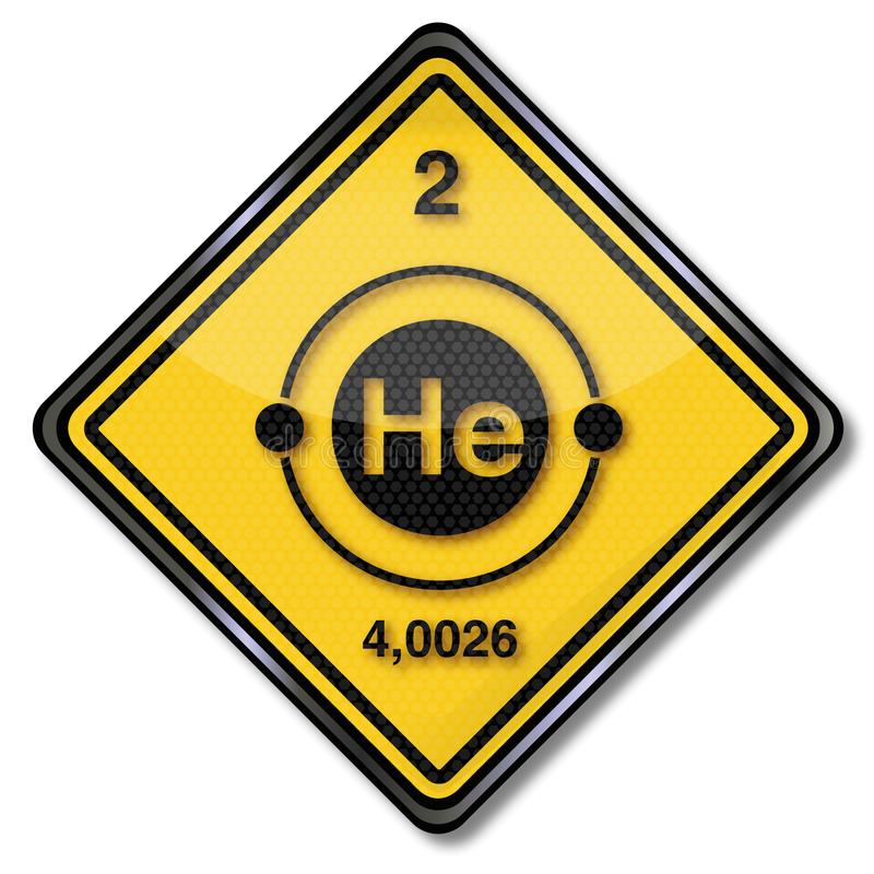 Sign chemistry character helium vector illustration