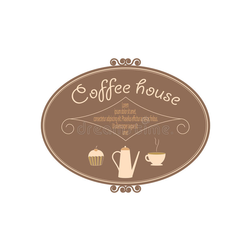 The sign for a coffee house royalty free stock photography