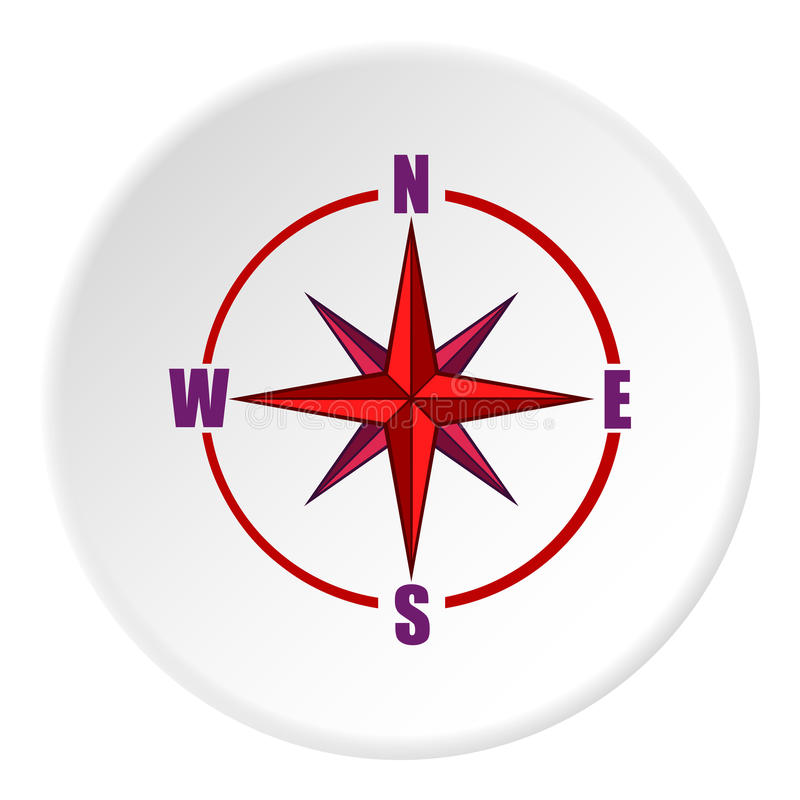 Sign Of Compass Icon Cartoon Style Stock Vector Illustration Of