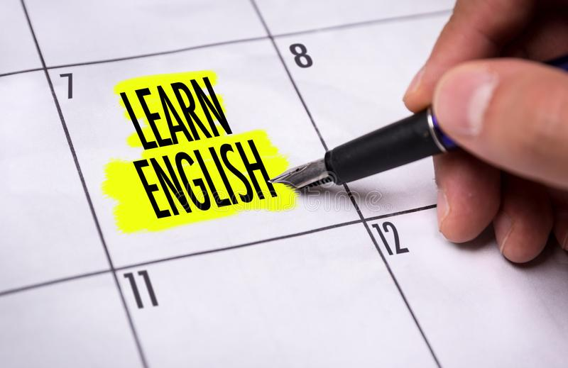 Learn English on a conceptual image royalty free stock photos