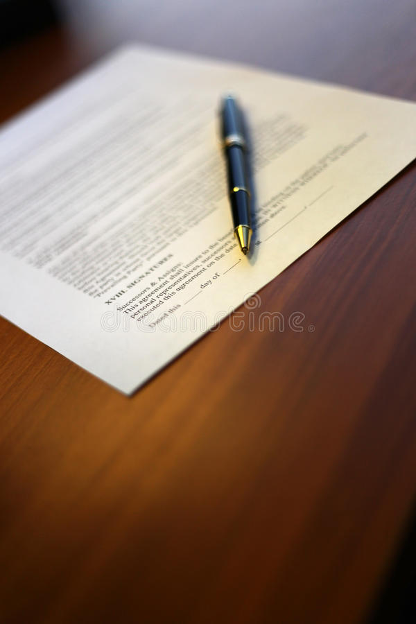 Sign the Contract stock images