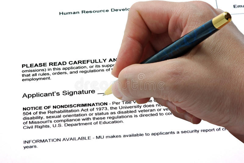 Sign On Contract Stock Photos