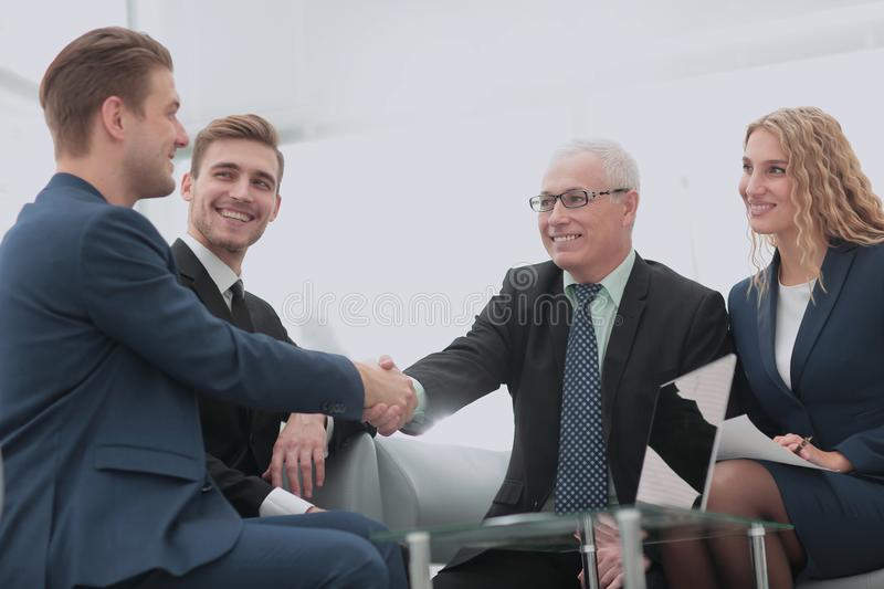 Concept of reliability partnership and cooperation. business royalty free stock photography