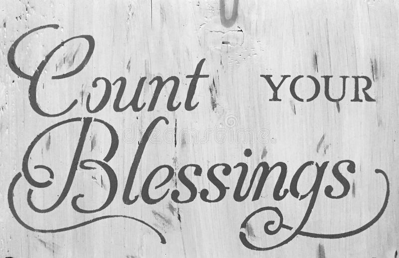 Download Sign count your blessing stock photo. Image of tips, count - 92495882