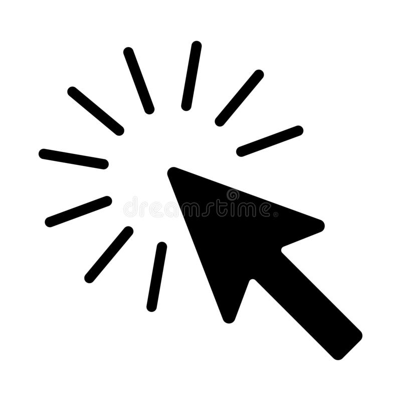 The sign of the cursor of a computer mouse royalty free illustration