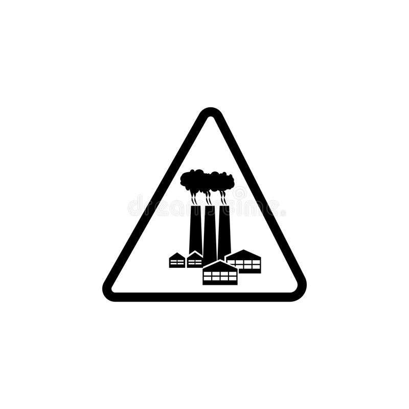 Sign danger industrial zone icon. Element of warning for mobile concept and web apps. Icon for website design and development, app stock illustration