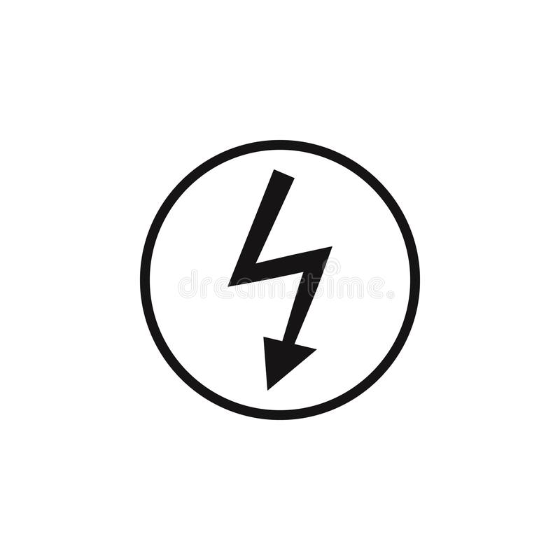 Sign Dangerous Electricity Icon. Element Of Danger Signs Icon ...
