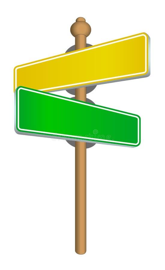 _sign de rue illustration de vecteur