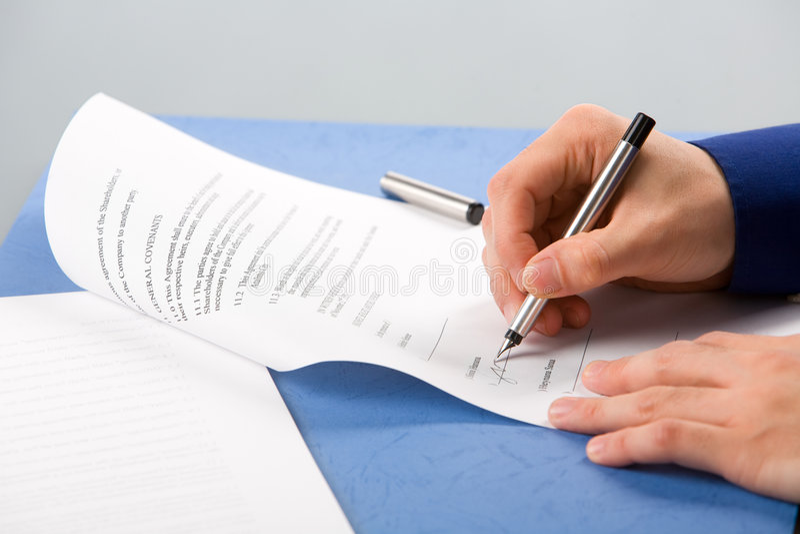 Sign del documento immagine stock libera da diritti