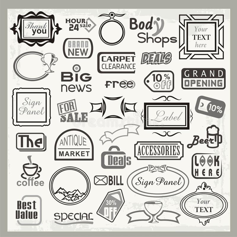 Free Sign Designs And Banner Headers Set Royalty Free Stock Image - 21108836