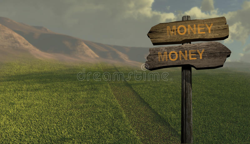 Download Sign Direction Money-money Stock Image - Image: 30910381
