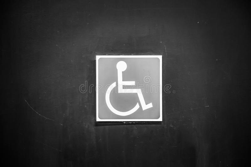 Sign for the disabled. Detail of information royalty free stock image