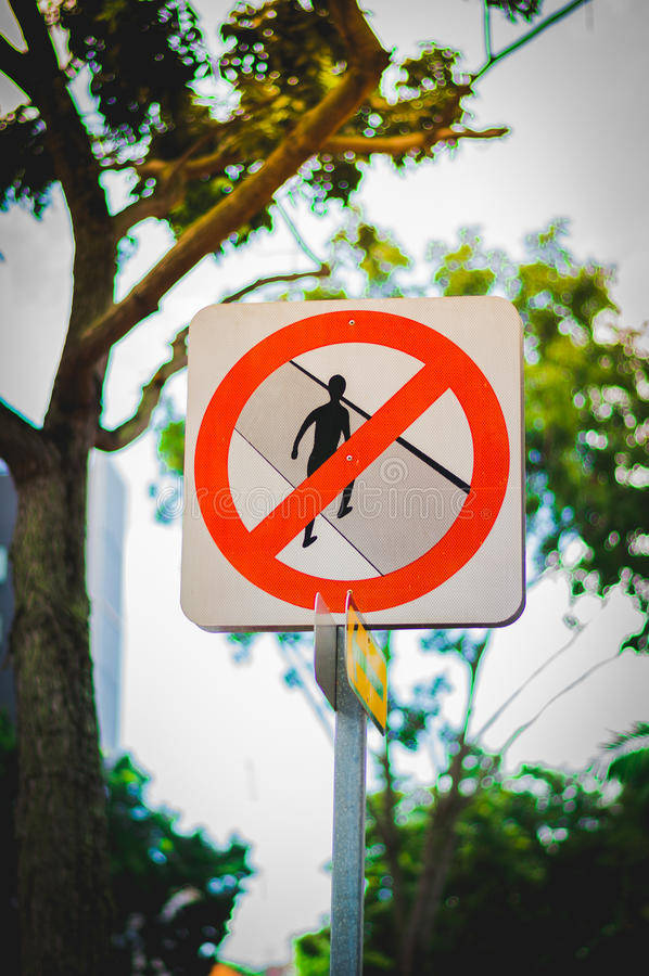 Sign do not cross royalty free stock images
