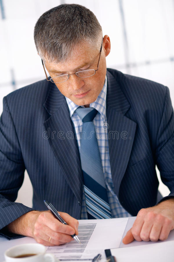Download Sign The Document. stock image. Image of adult, leadership - 14854767