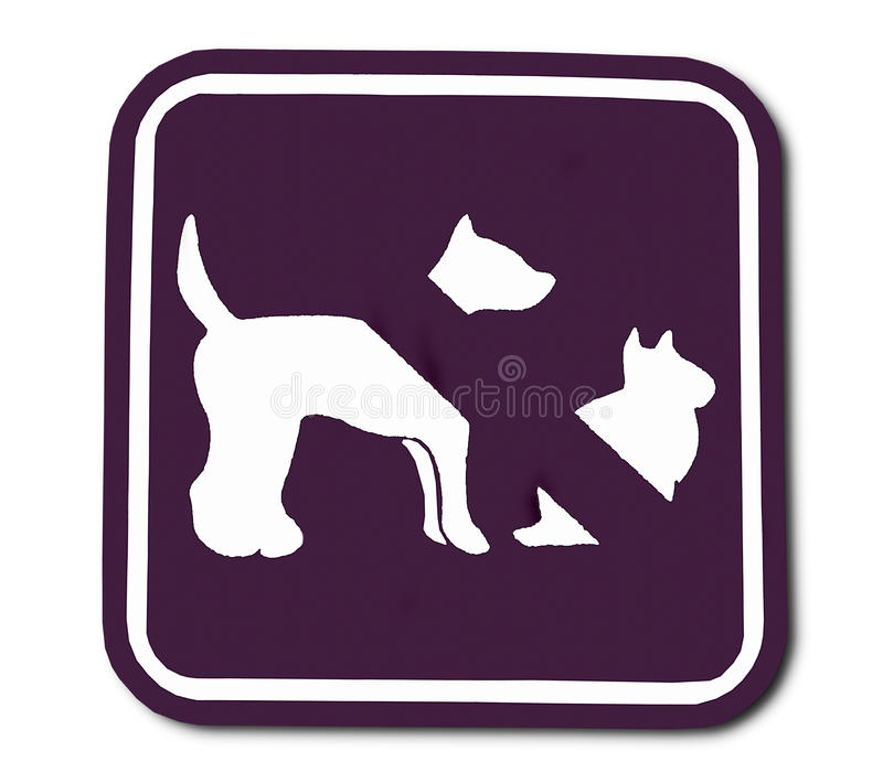 Download The Sign Of Domestic Animal Prohibited Stock Illustration - Image: 27924124