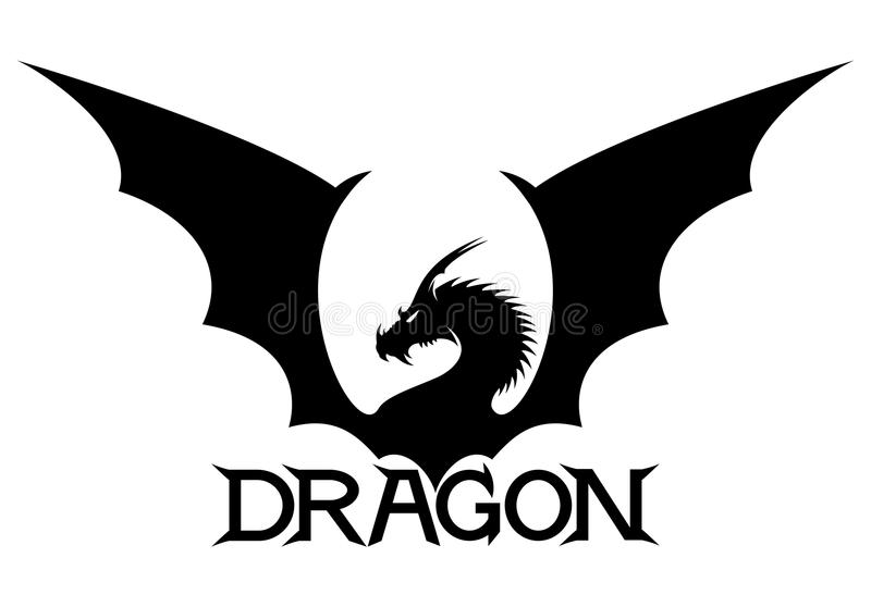 The sign of the dragon. On a white background vector illustration