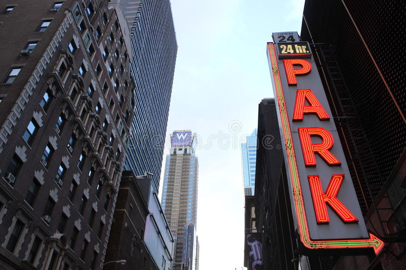 Download Parking lot in New York editorial stock image. Image of chrysler - 30097689
