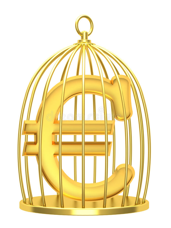 Download Sign euro in a cage stock illustration. Image of prison - 31040134