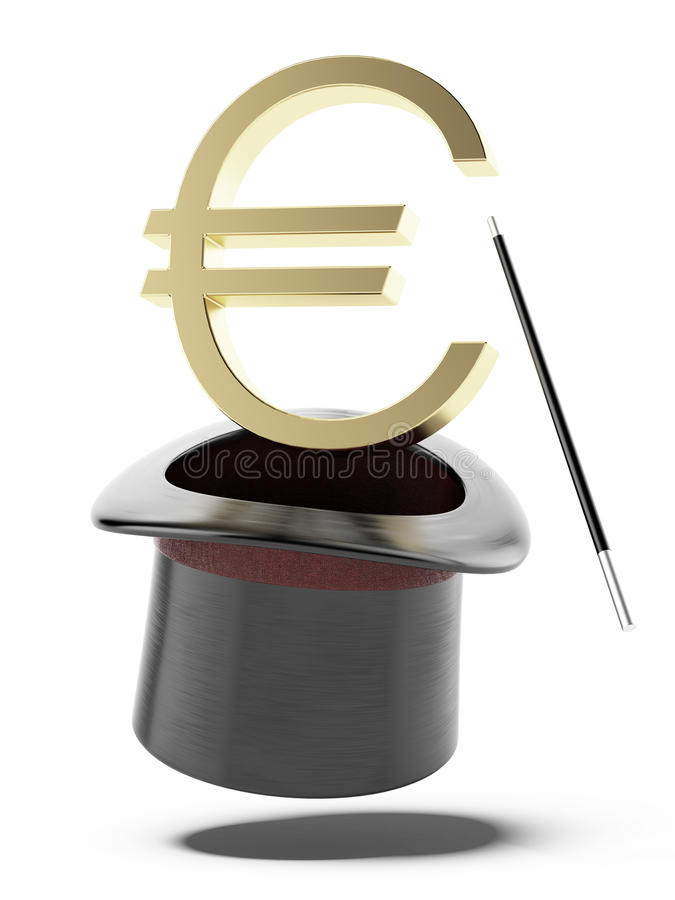 Sign Of Euro In A Cylinder Stock Images