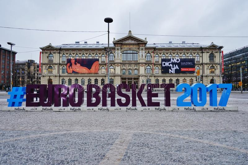 Download Sign For The EUROBASKET 2017 In Helsinki Editorial Photo - Image: 83720211
