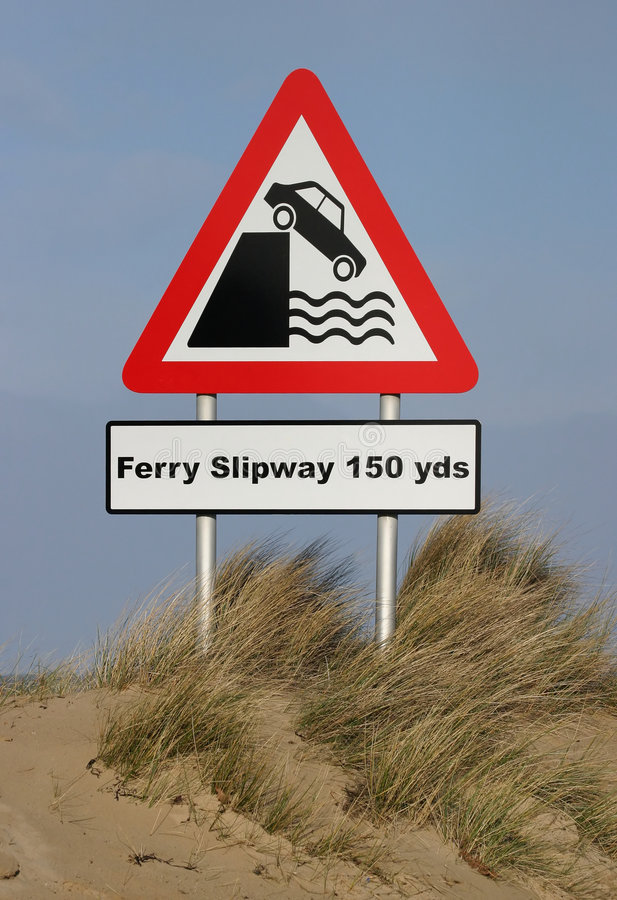 Sign, Ferry Slipway royalty free stock images