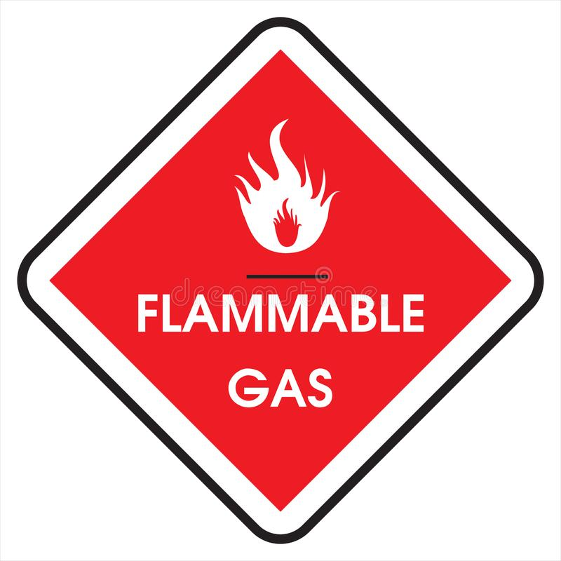 Sign flammable gas royalty free stock images