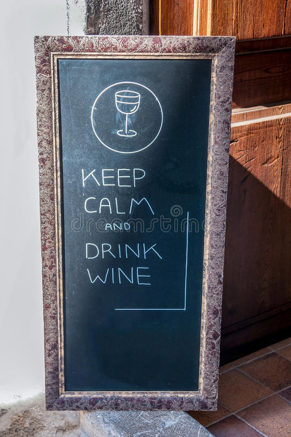 Sign in front of a restaurant stock photo