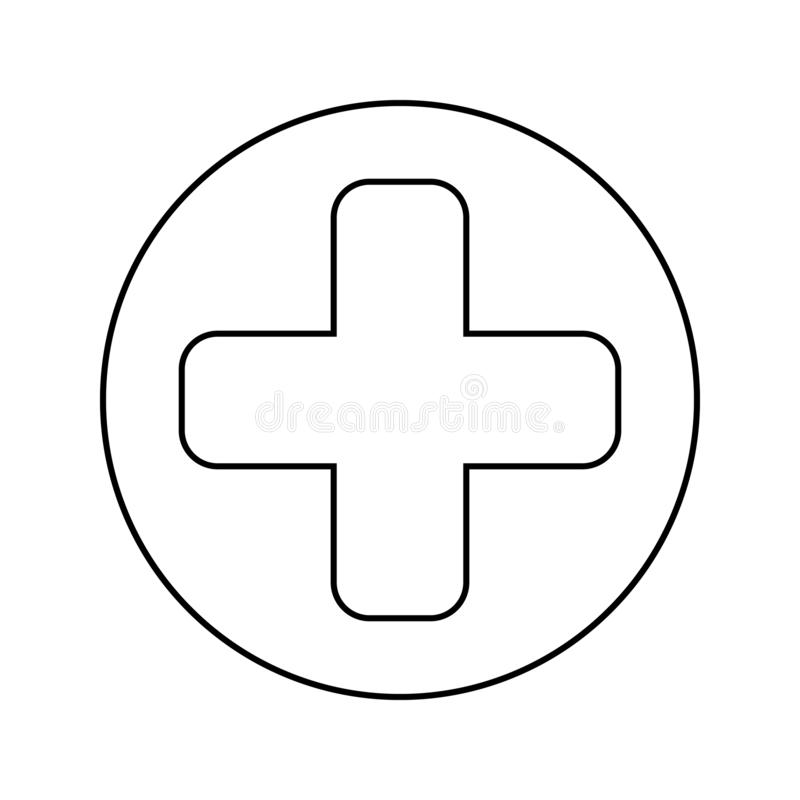 Sign in the game health icon. Element of Game for mobile concept and web apps icon. Thin line icon for website design and. Development, app development on white royalty free illustration