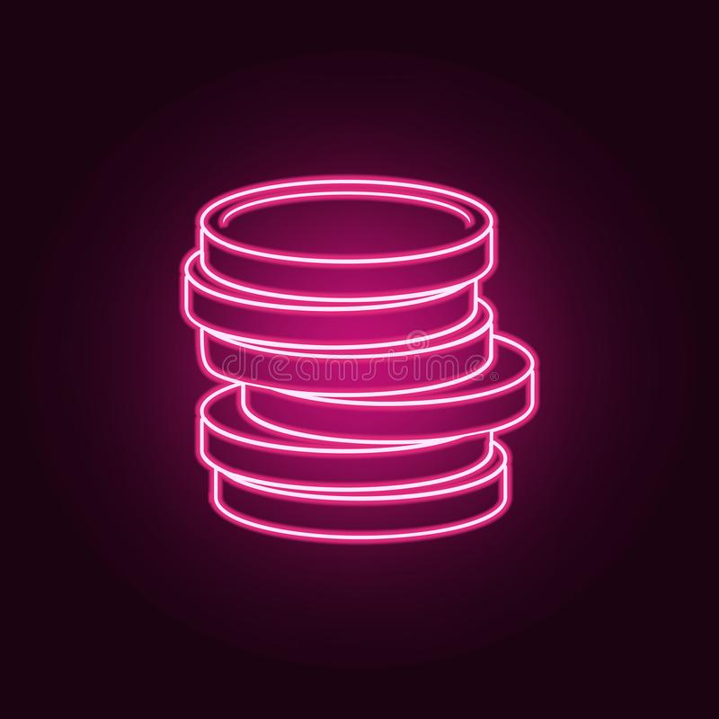 Sign in the game passing to the graying level icon. Elements of Game in neon style icons. Simple icon for websites, web design,. Mobile app, info graphics on royalty free illustration