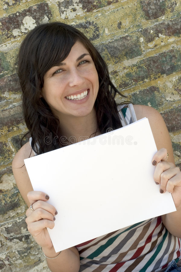 Sign Girl royalty free stock photography
