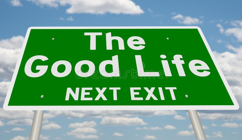 Sign for The Good Life vector illustration