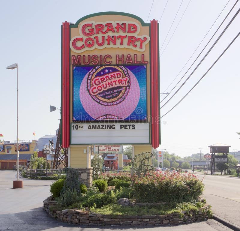 Sign at the Grand Country Music Hall, Branson Missouri royalty free stock photography
